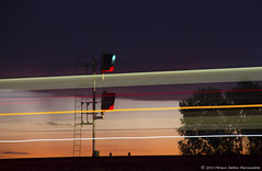 Go West! (Patrick Dirden) Tags: california railroad pink light sunset sky orange motion blur up northerncalifornia train twilight purple streak dusk rail amtrak unionpacific headlight davis signal yolocounty centralvalley capitolcorridor sacramentovalley passengertrain davisca railroadsignal unionpacificrailroad amtrakcapitol amtrakcalifornia upmartinezsub websterca