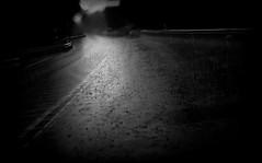 (blazedelacroix) Tags: car road rain forest blazedelacroix bw dark wet mono noir