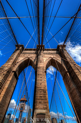New York, NY, USA (Stewart Leiwakabessy) Tags: city nyc newyorkcity travel bridge vacation usa holiday ny newyork buildings us holidays skyscrapers unitedstates unitedstatesofamerica brooklynbridge saturation highrise traveling suspensionbridge bigapple hdr highdynamicrange multiexposure vacationing thebigapple citytrip photomatix bracketed tonemapped murica nyc2015 newyorkcity2015