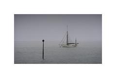 Fog bound (gerry_kenneally) Tags: light fog sailing yacht tide mooring channel