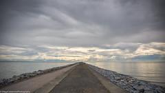 Sweater season (Diego Calderone) Tags: road sky canada beach vancouver canon rainyday cloudy path richmond dslr endless lightroom ionabeach 2470 endlessroad lightroom5