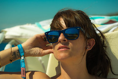 Boating in the heat (joanneleigh80) Tags: reflection sunglasses sunbathing