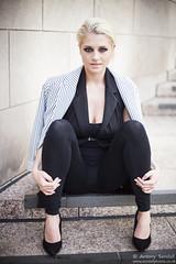 2015_07_30 Georgia W 386 WM (Sendall) Tags: portrait sexy london beautiful beauty fashion gorgeous steps location blonde stunning editorial canarywharf androgyny androgynous isleofdogs
