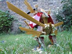 (Foyles In-store MOC) (AyliffeMakit) Tags: friends gold wings lego walker mecha foyles mech moc minidoll