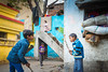 In the Backyard-DSC_8540 (thomschphotography3) Tags: varanasi asia benares children boys playing backyard colours colourful streetphotography