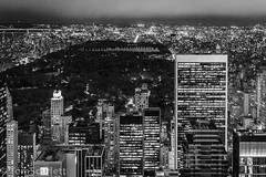 "Park at night (cptscarlett78) Tags: ""tom scarlett"" ""nikon"" ""d7100"" ""nikon d7100"" usa newyork newyorkcity nyc manhattan rockefeller rockefellercentre topoftherock skyline blackandwhite night centralpark"