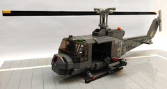 UH-1 C Gunship (Babalas Shipyards) Tags: lego model helicopter gunship moc vietnam war bell uh1 military army