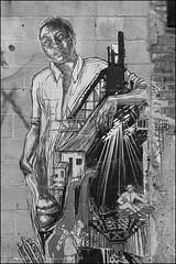 L1026381 B&W (Damien DEROUENE) Tags: damienderouene leica mm monochrom street art urban brooklyn redhook nyc