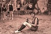Girl with pet O'possum at the Beach Club 1922 LOC06756u (SSAVE w/ over 6.5 MILLION views THX) Tags: possum opossum girl bathingsuit beach washingtondc potomacriver 1922 mildredkadleck