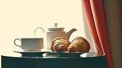 Sunshine Food (Sanjiban2011) Tags: food foodphotography breakfast bread croissant backlight stilllife tabletop indoor objects nikon d750 fullframe tamron tamron70200