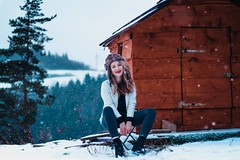 cabin vibes (habologique) Tags: cabin orava slovakia slovensko girl woman hat portrait selfportrait self canonef50mmf18 woods mountains snow snowy snowing outdoor landscape portraiture nature wood forest pine evergreen
