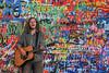 Don't worry be happy (Edoardo Vanetti) Tags: lennon wall prague praha praga czech republic muro murales singer hippies graffiti