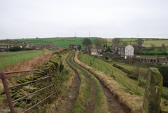 On track ....... (Halliwell_Michael ## Thanks you for your visits #) Tags: huddersfield thurstonland westyorkshire nikond40x 2017 winter pennineviews kirklees hills villages tracks gate farmland perspective landscapes
