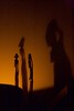 as the ancestors look over us (diminoc) Tags: statue figurine sculpture african wood shadow perspective candle