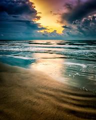 Light Wall (adamkylejackson) Tags: beaches houston texas galveston sunrise dawn waves clouds thunderstorm morning