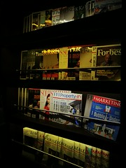 Magazine rack (A. Wee) Tags: jakarta indonesia 雅加达 印尼 airport 机场 cgk lounge premier magazine rack shelf