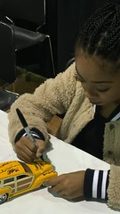 #5-222, Skai Jackson, Disney's Bunk'D and Jessie, Signing, Custom Car, Tan, 1/24 scale, Die Cast car, (Picture Proof Autographs) Tags: 5222 skaijackson disneysbunkdandjessie signing customcar tan 124scale diecastcar atthe2017worldofwheels inrosemont withpictureproofphotos whichhasalreadybeensignedbygenewinfield billwalt peggyodonnell willcastro vinniedimartino andpixie