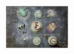 PPGdp - 03 Regle des tiers L'heure du thé (Champpommier) Tags: thé lheure du flat lays règle des tiers gâteau théière tasses