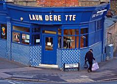 From a Distance (Gaz-zee-boh) Tags: parklandwalk london n4 sunday launderette washing laundry blue tiles bluetiles almostanything d7k 300m nikon stapletonhallrd haringey