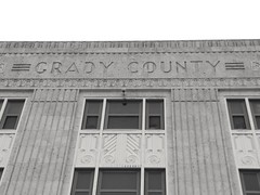 Grady County Courthouse in Chickasha, Oklahoma (kevinellison62) Tags: blackwhite gradycountycourthouse courthouse judicialbuilding artdeco architecture building oldbuilding chickasha oklahoma court
