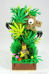 Who is the HUNTER? (drillerbryan) Tags: lego collectableminifigures moc hklug dino dinotracker series12