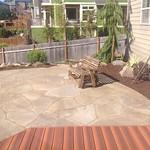 "Stone patio, rock patio, wood deck, landscaping, backyard, boulders, patio, outdoor area, landscape, lifescape <a style=""margin-left:10px; font-size:0.8em;"" href=""http://www.flickr.com/photos/117326093@N05/17736366173/"" target=""_blank"">@flickr</a>"
