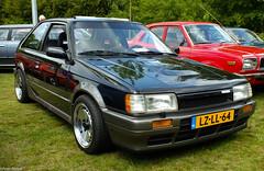 1987 Mazda 323 1.6 HB Turbo Formule 4 (peterolthof) Tags: youngtimerevent2015 lzll64 323 mazda mazda323 sidecode5 peterolthof