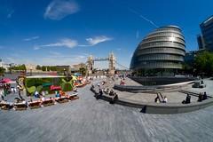 London Riviera (nigel@hornchurch) Tags: city bridge england london tower towerbridge hall unitedkingdom cityhall fisheye panasonic samyang p1000375 pixelmator dmcgf6