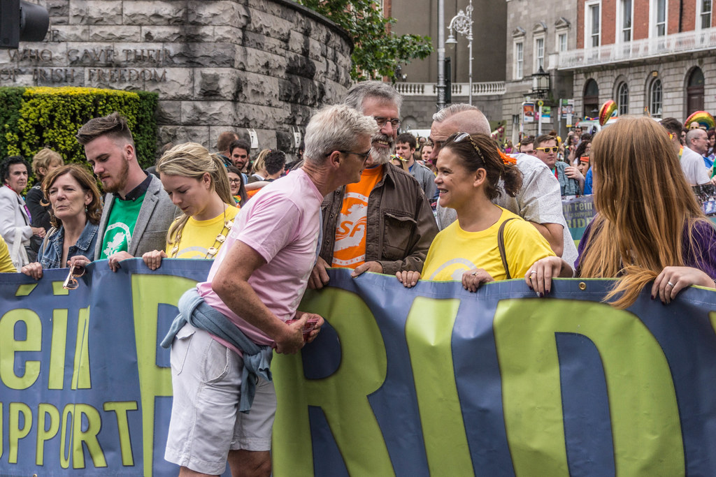 PRIDE PARADE 2015 - JERRY ADAMS AND MARY-LOU McDONALAD WERE THERE [WERE YOU THERE?]-REF-106314