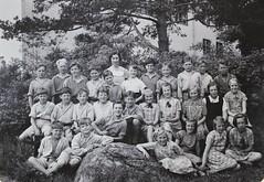 Norra ngby Folkskola, klass 5b, vrterminen 1937 (Olle Sundh) Tags: stockholm norra skola klass bromma svv skolfoto ngby folkskola skolbarn vultejusvgen