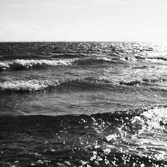 (bokehmaki) Tags: sea summer england bw nature 50mm seaside waves westsussex sigma westwittering canon5dmkii