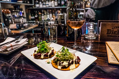 At The Populist (Culinary Fool) Tags: usa bar dinner bottle colorado candle dof wine july denver ros rino 2015 culinaryfool popu 18135mm thepopulist brendajpederson charsiuporkbellytostada