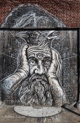 PYRAMID Street art  @ Welling Ct (ZUCCONY) Tags: street nyc newyorkcity streetart newyork art love geotagged graffiti calle arte unitedstates bobby rue welling 2015 zucco wellingcourtmuralproject bobbyzucco pedrozucco