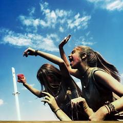 HipstaPrint (dimakk) Tags: party sky people music woman color art girl face festival female happy europe day young hellas athens greece grecia atenas griechenland aten grece athina attica athenes athen oaka yunanistan atina attiki atene greka coloud  colourday wonderlens  hipstamatic triplecrownflash standupfilm