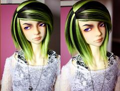 Envy (✄Frappzilla) Tags: black green studio rebel doll little seven wig bjd envy abjd littlerebel frappzilla frappzillastudio