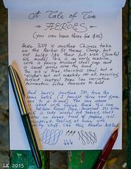A Tale of Two Heroes (kitchener.lord) Tags: ink israel hero sample impressions pens stationery 2015 rhodiadotpad xf27 parkerquinkblack pelikanroyalblue