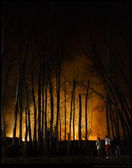 Incendio de pastizales en General Roca