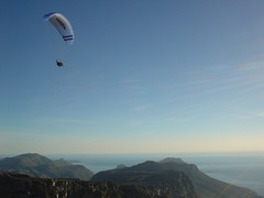 Parasailor at Table mountain, Capetown