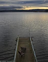 Morning Has Broken (mjardeen) Tags: canonnfd35mmƒ28 canon nfd 35mm ƒ28 wa washington sony a7ii a7m2 on1 on1effects vashon marjiserainn sunrise wideangle pier chairs water reflections landscape landscapesshotinportraitformat