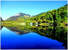 Le Rocher de la Motte - Lac de Valon (arno18☮) Tags: lac valon chèvrerie bellevaux france hautesavoie bleu vaches miroir panoramio wow cow sunset sky nature blue lake artofimages