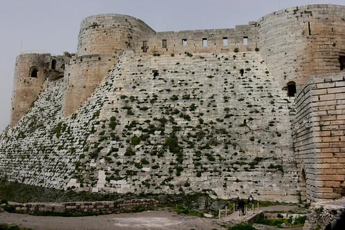 KRAK DE CHEVALIERS (Crac de los Caballeros). HOMS (Syria). 2008. Castillo. Muro.