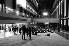 Inside the Turbine hall (ragingr2) Tags: tate tatemodern museum london gallery modernart art turbine hall turbinehall bankside powerstation banksidepowerstation urbanrenewal industry industrial blackwhite bnw greatbritain unitedkingdom uk england gb urban city citylife monochrome bw blackandwhite grey greyscale zwartwit