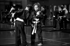 Kiaido Ryu Orange Belt Grading 092 (C & R Driver-Burgess) Tags: boy girl young child teen preteen adult man woman karate martial art hall floor dojo exercise demonstrate spar partner two group