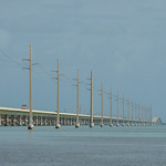 The Seven Mile Bridge. Florida Keys.