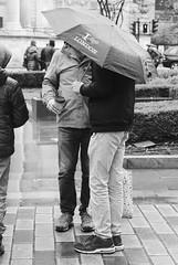 Day 12. I ♥️ London. (Rob Emes) Tags: mono london city umbrella street g7xii canon 365 3652017 bw rain