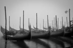Constrained (Suri Singh) Tags: gandola boats longexposure venice italy fog mist blackwhitephotography blackwhite