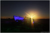 Soul of the Angler (seb a.k.a. panq) Tags: night lp noctography abandoned dungeness boat blue oldboat sebastianbakajphotography