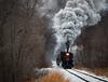 Woodland Steam (Wheelnrail) Tags: steam locomotives railroad michigan trains train rail road railway snow winter railfanning 462 284 owosso carland coldwater quincy grain elevator smoke locomotive