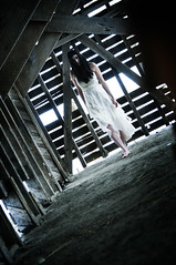 We Lie in Wait 6 (Mark_Dangerous) Tags: apparition photostory photoseries winter horror cold frozen woman model barn rural alone isolation scary ghost malevolent spirit unwelcome hostile evil spooky snow dress abandoned colorgrading