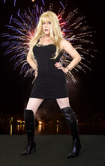 Happy New Year everybody! (Irene Nyman) Tags: irene nyman dutch crossdresser fireworks happy new year stiletto overknee boots little black dress cute cutie holland transvestite irenenyman dutchtgirl blueeyes cilf